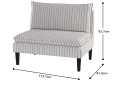 Montmorency 2 seater Accent Bench