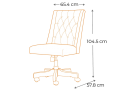 Gladstone Button-Tufted Home Office Chair