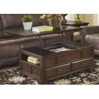 Emily Lift Top Wooden Rectangular Coffee Table with Storage