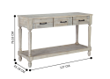 Charlotte Wooden Console Table with Storage 3 Drawers