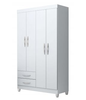 Ambar Wardrobe with Drawers - Free standing/Flat Pack - Made in Brazil