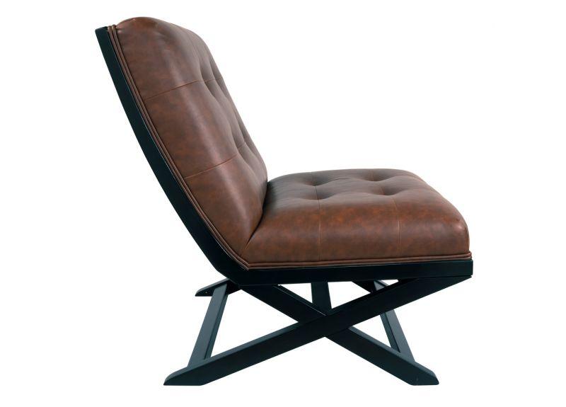Monash Faux Leather Armless Chair