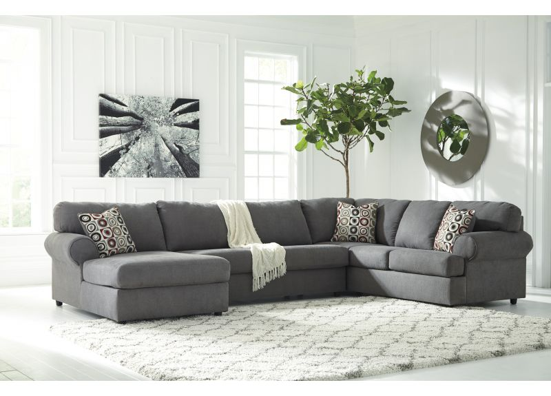 Fremont 6 Seater Modular Fabric Lounge Suite with Chaise