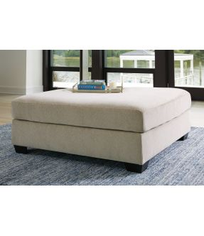 Lincoln Over-sized Fabric Ottoman