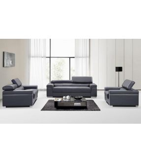 Anastasia Leather Lounge Suite Set  (2 Seater+3 Seater+ Armchair)