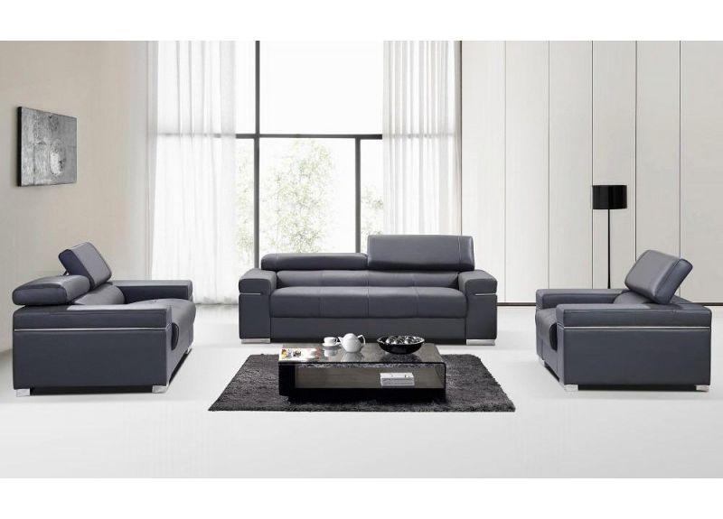 Anastasia Leather Lounge Suite Set  (2 Seater+3 Seater+ Armchair)