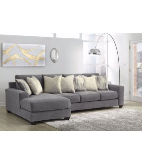 Abraham 4 Seater Modular Fabric Lounge Suite with Chaise