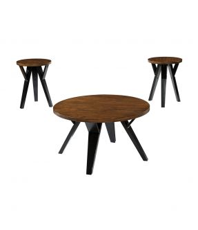 Burnley Retro Wooden Coffee Table Set