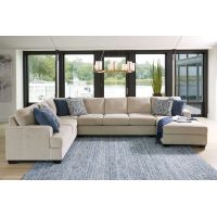 Lincoln 7 Seater Modular Fabric Lounge Suite with Chaise