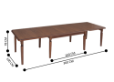 Bavaria 8 Seater Brown Dining Table Traditional Style