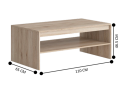 Kerby Rectangle Coffee Table with Shelf