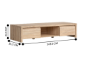 Yarra TV Entertainment Unit up to 65'' Light Brown