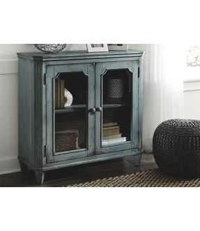 Eltham Wooden Accent Cabinet with 2 Glass Doors