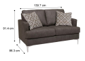 Berwick Fabric 2 Seater Couch Sofa
