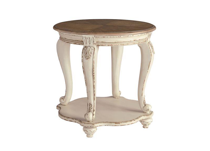 Caroline Circular Wooden Round Side Table