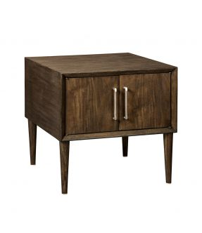 Murray Minimalist Style Square Side Table