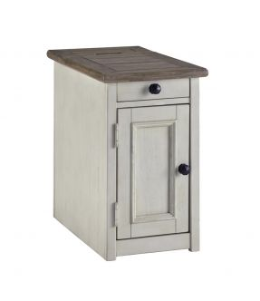 Watsonia Vintage Farmhouse Style Side Table/Cabinet